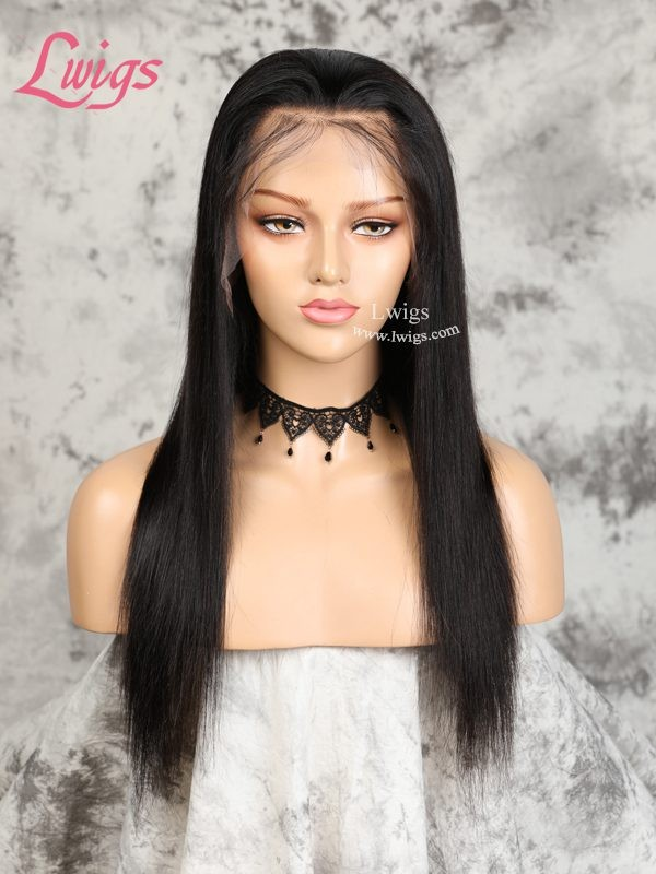 Undetectable Dream Swiss Lace Silky Straight 360 Lace Front Wigs For Black Women Virgin Brazilian Hair Wigs LWigs193