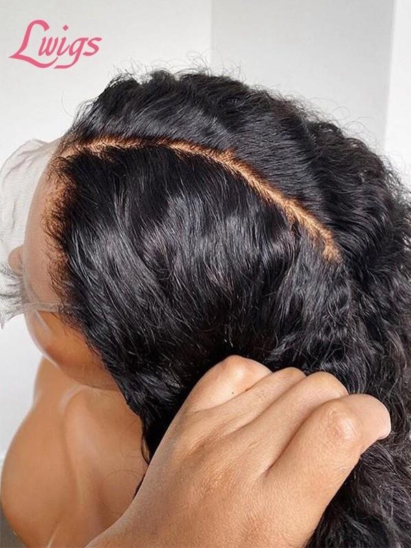 Unprocessed Kinky Curly Full Lace Wig Virgin Brazilian Human Hair Wigs For Black Women LWigs01