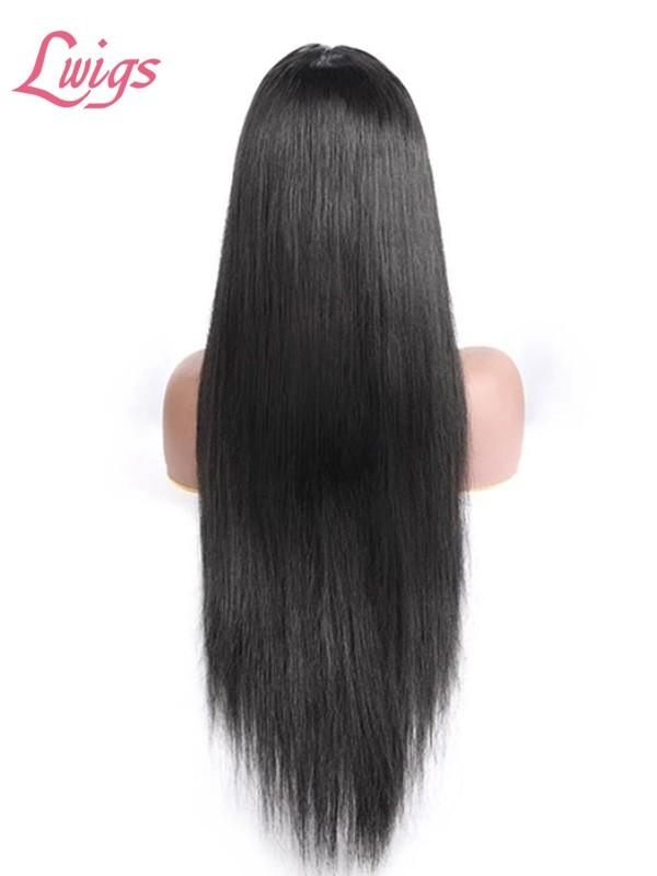Hd Transparent Swiss Lace 100% Brazilian Human Virgin Hair Glueless Wig 5x5 Lace Closure Wig Straight LWigs418