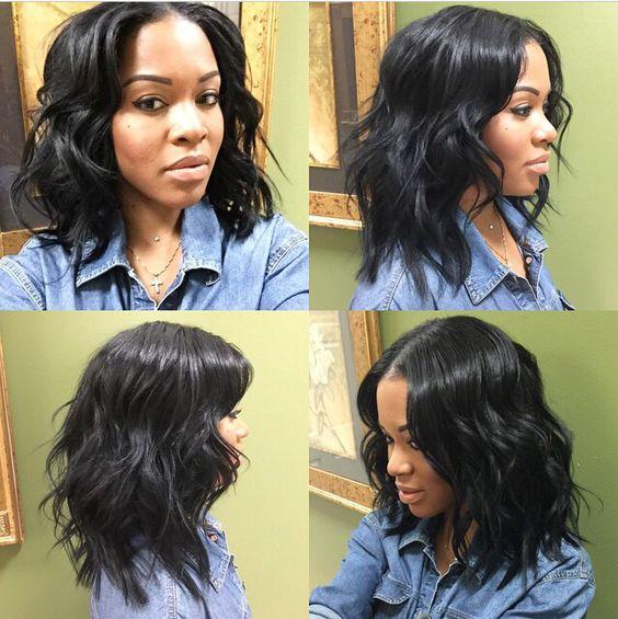 short wavy 360 lace wigs